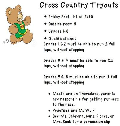 Cross Country 2017 Tryouts