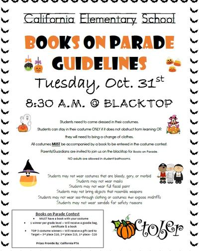 Books On Parade, Oct. 31 at 8:30 a.m.