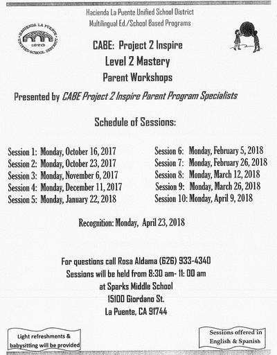 CABE: Project 2 Inspire Workshops